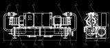 螺杆机水源热泵机械图