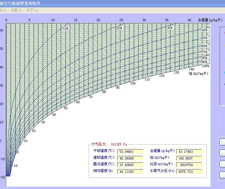 湿空气焓湿图查询软件
